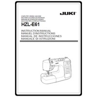 Instruction Manual, Juki HZL-E61