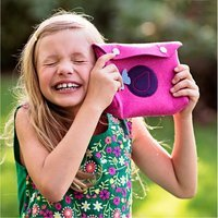 BlueFig Class 200 Li'l Snap Clutch Pattern - Bubble Gum Pink