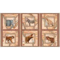 Out of Africa, Safari Fabric Panel, Quilting Treasures