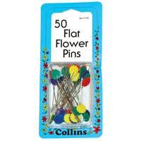 Quilter's Flat Flower Head Pins - 50pk
