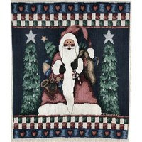 Old Saint Nick Tapestry Fabric Panel