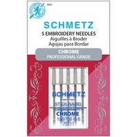 Chrome Embroidery Needles, Schmetz (5pk)