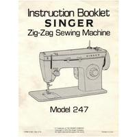 Instruction Manual, Singer 247