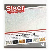 Siser 6pk Holographic Heat Transfer Vinyl (11.8in x 12in)