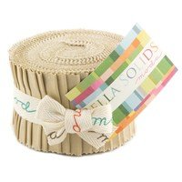 Tan, Moda Bella Solids Fabric, Junior Jelly Roll