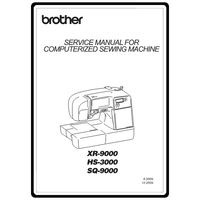 Service Manual, Brother XR9000