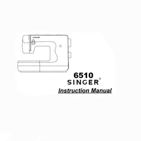 Instruction Manual, Singer 6510