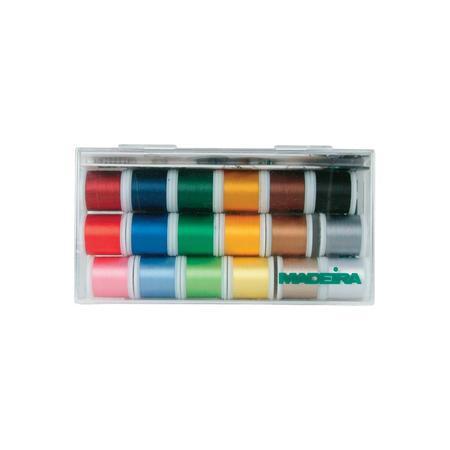 Madeira Rayon Metallic Glamour, 18 Spool Box