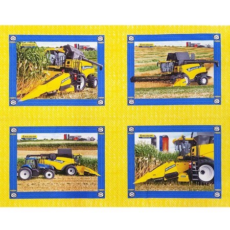 New Holland Combine Pillow Fabric Panel, 36in