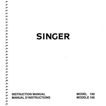 Instruction Manual, Singer 100