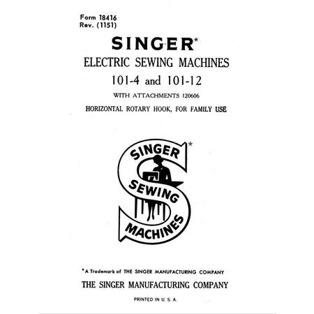 Instruction Manual, Singer 101-4