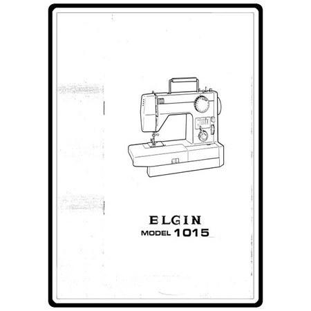Service Manual, Pfaff 1015