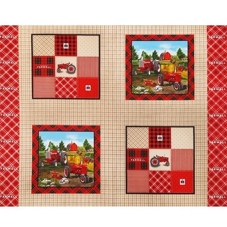 Farmall Plaid Pillow Fabric Panel, 36in