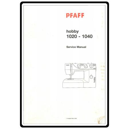 Service Manual, Pfaff 1020