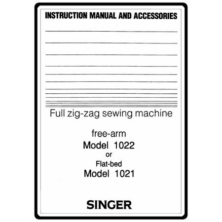 Instruction Manual, Singer 1022