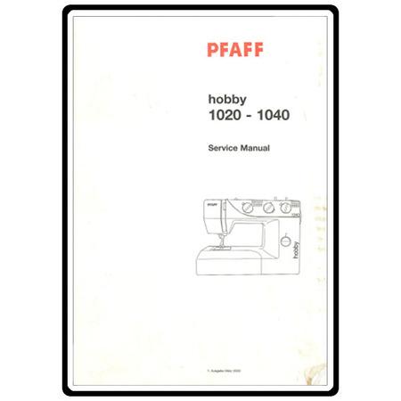 Service Manual, Pfaff 1030
