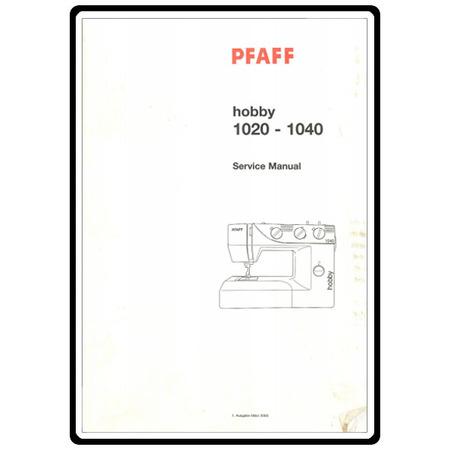 Service Manual, Pfaff 1040