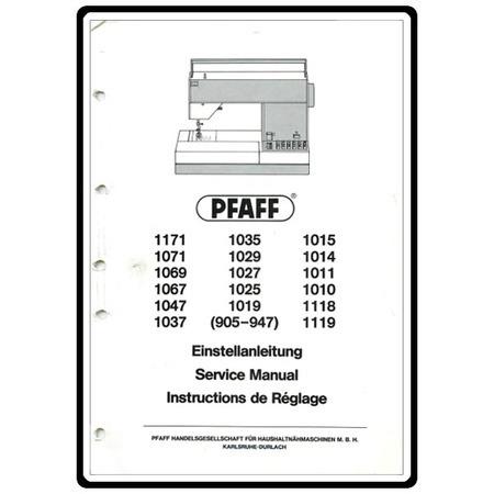 Service Manual, Pfaff 1047