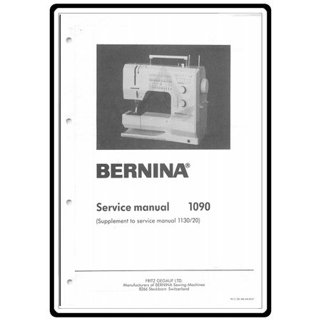 Service Manual with Supplement, Bernina 1090