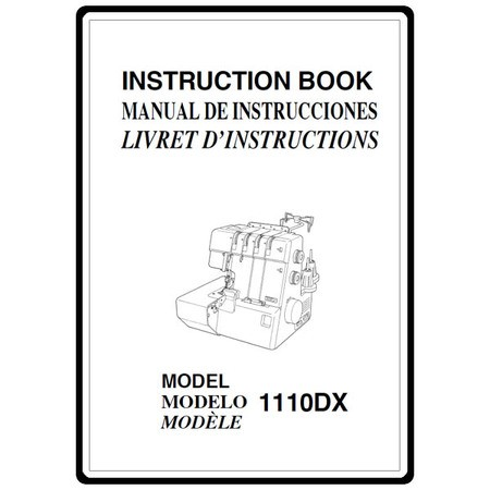 Instruction Manual, Janome 1110DX