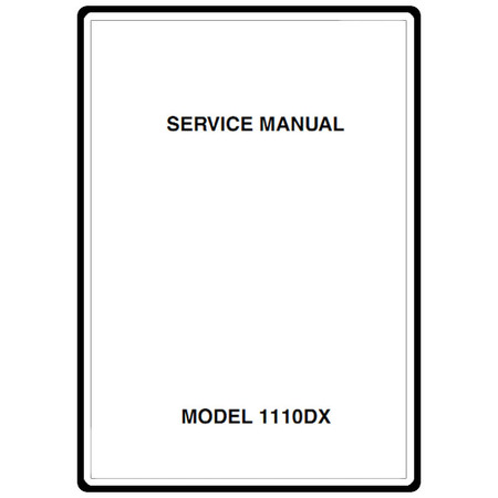 Service Manual, Janome 1110DX