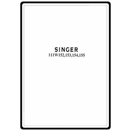 Instruction Manual, Singer 111W153