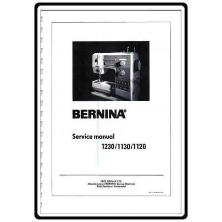 Service Manual, Bernina (Bernette) 1130