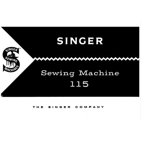 Instruction Manual, Singer 115
