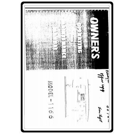 Instruction Manual, White 1166