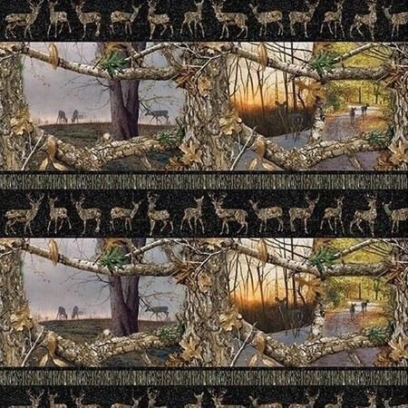 Realtree Daybreak Edge, Deer Stripe Fabric