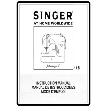 Instruction Manual, Singer Featherweight 118