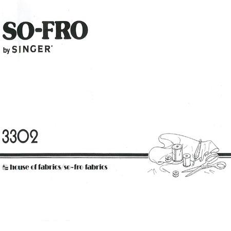 Instruction Manual, Singer 3302