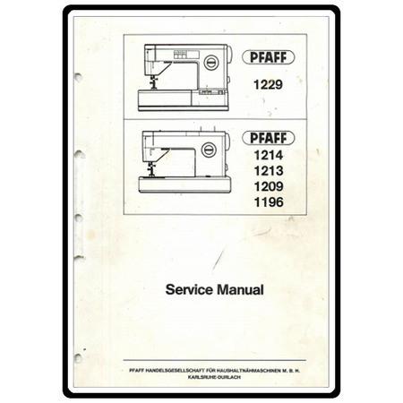 Service Manual, Pfaff 1211