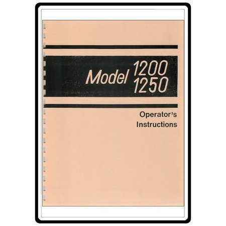 Instruction Manual, Singer 1200