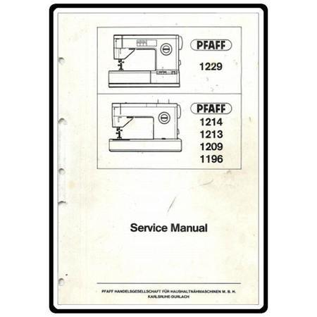 Service Manual, Pfaff 1216