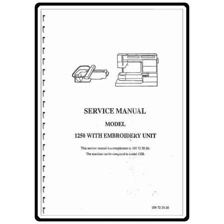 Service Manual, Viking V1250