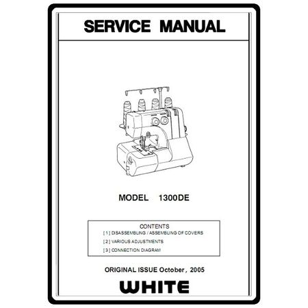 Service Manual, White 1300DE