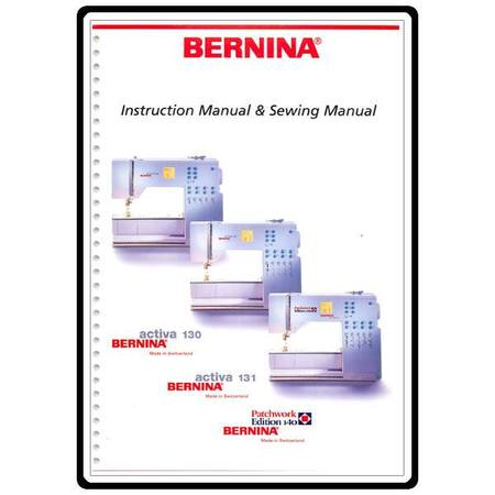 Instruction Manual, Bernina Activa 131