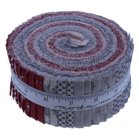 Image Fleur Noel.Moda Fabrics Fleur De Noel Jelly Roll 40pc