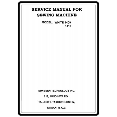 Service Manual White 40 Sewing Parts Online Awesome White 1409 Sewing Machine Manual