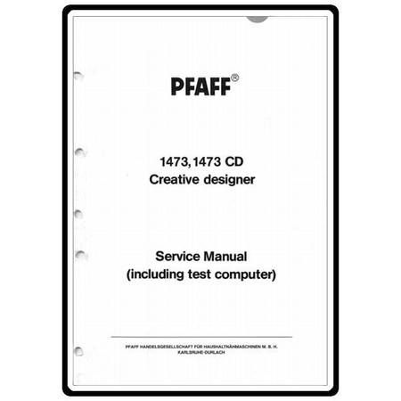 Service Manual, Pfaff 1473CD