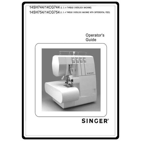 Instruction Manual, Singer 14SH754