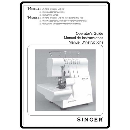 Instruction Manual Singer 40SH40 Sewing Parts Online Classy Singer 14sh654 Finishing Touch Serger Sewing Machine