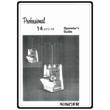 Instruction Manual, Singer 14U13