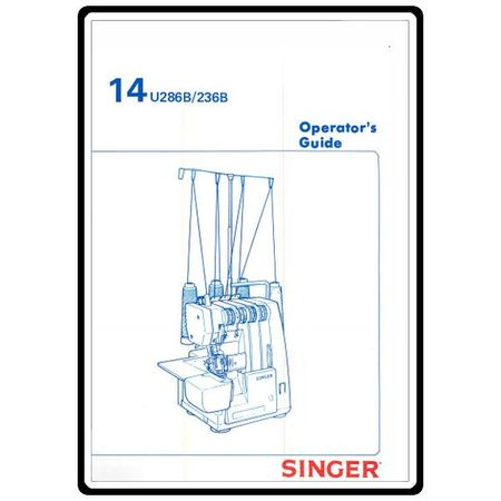 Instruction Manual, Singer 14U286