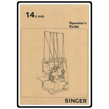 Instruction Manual, Singer 14U4