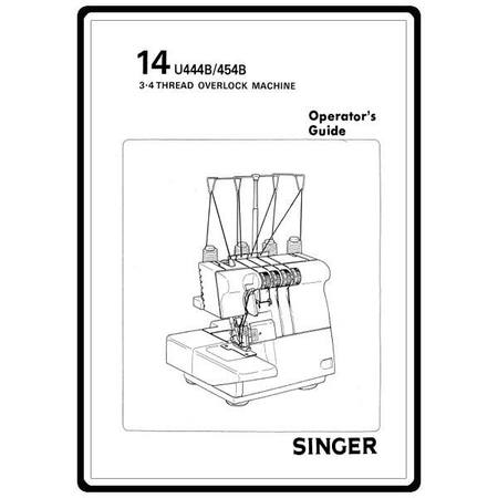 Instruction Manual, Singer 14U454B