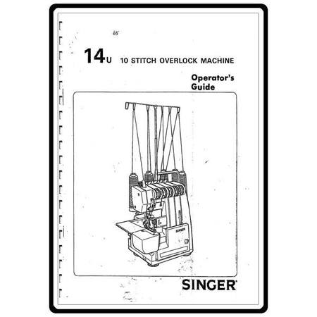 Instruction Manual, Singer 14U285