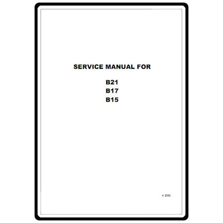 Service Manual, Babylock B17