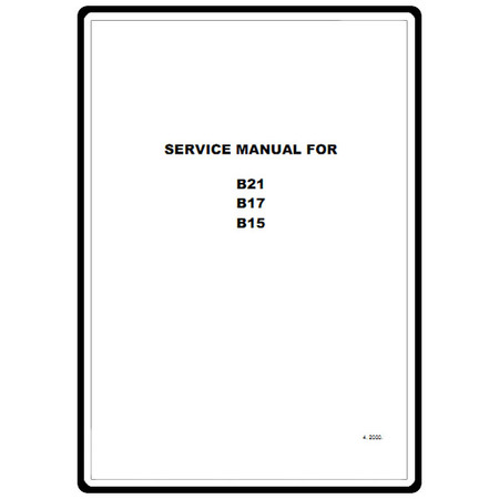 Service Manual, Babylock B15